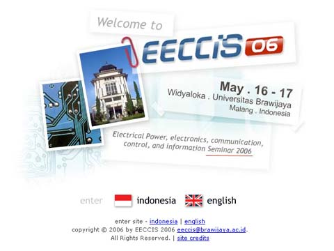 EECCIS 2006 homepage