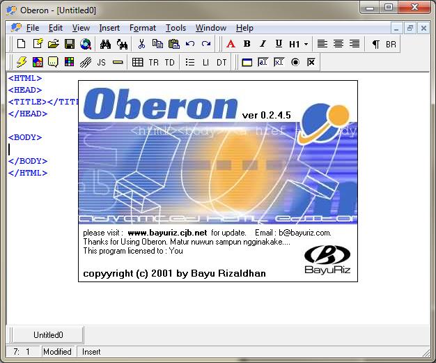 Oberon screenshot 1