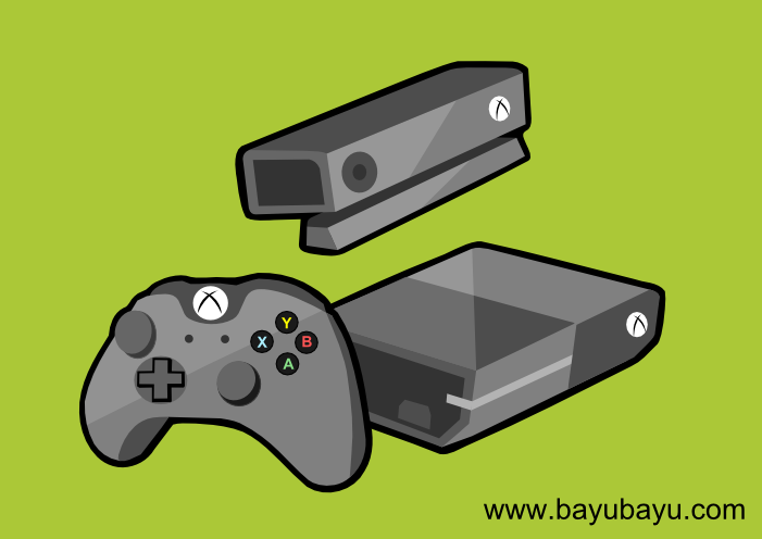 Free XBox One Vector Cartoon